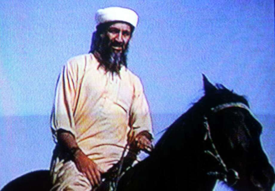 Suspected terrorist Osama bin Laden is seen in this undated photo taken from a television image. Photo: Getty Images / Getty Images North America