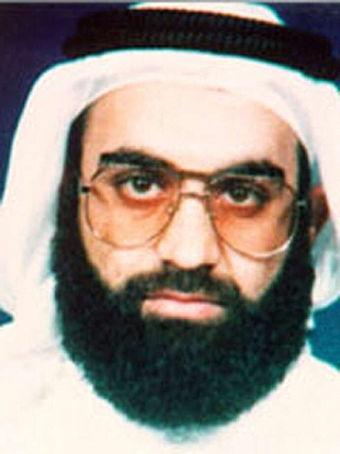 Khalid Shaikh Mohammed, shown in this photo from the FBI, emerged as the top terrorist organizer for the Sept. 11 terrorist attacks, a senior U.S. law enforcement and counterterrorism official said. Mohammed, one of the FBI's most-wanted terrorists and a Kuwaiti lieutenant of Osama bin Laden, was alive, at-large and in the Afghanistan region, the law enforcement official told The Associated Press on Tuesday, June 4, 2002. He was later captured and waterboarded. (AP Photo/FBI) Photo: Associated Press / FBI