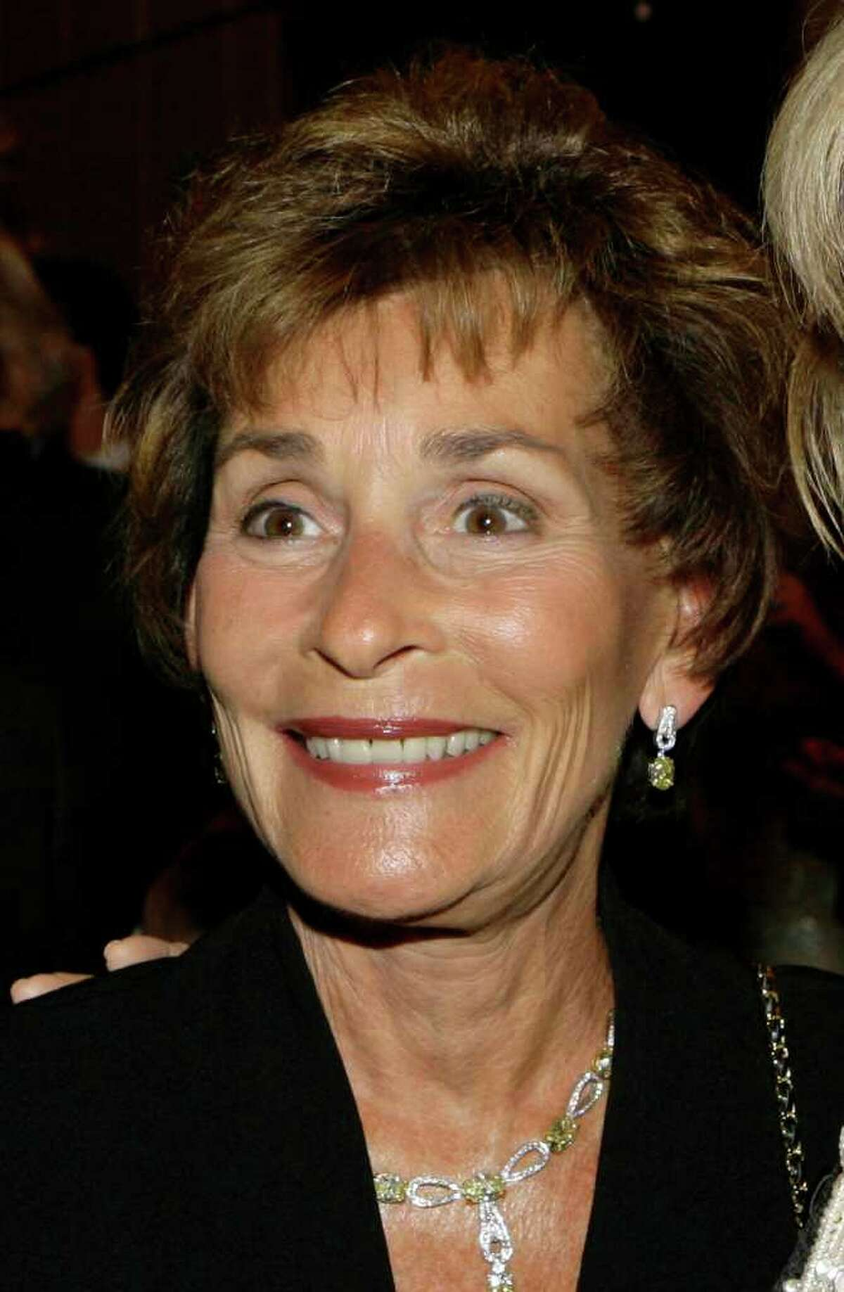 FILE - In this April 18, 2007 file photo, Judge Judy Sheindlin is shown at a party held by CNN celebrating Larry King's fifty years of broadcasting in New York. (AP Photo/Stuart Ramson, file)