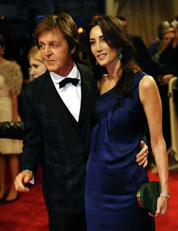 Nancy Shevell and Musician Paul McCartney attend the 'Alexander McQueen: Savage Beauty' Costume Institute Gala at The Metropolitan Museum of Art on May 2, 2011. A