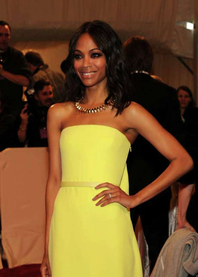 Zoe Saldana also became a Calvin Klein underwear model.  Photo: Getty Images
