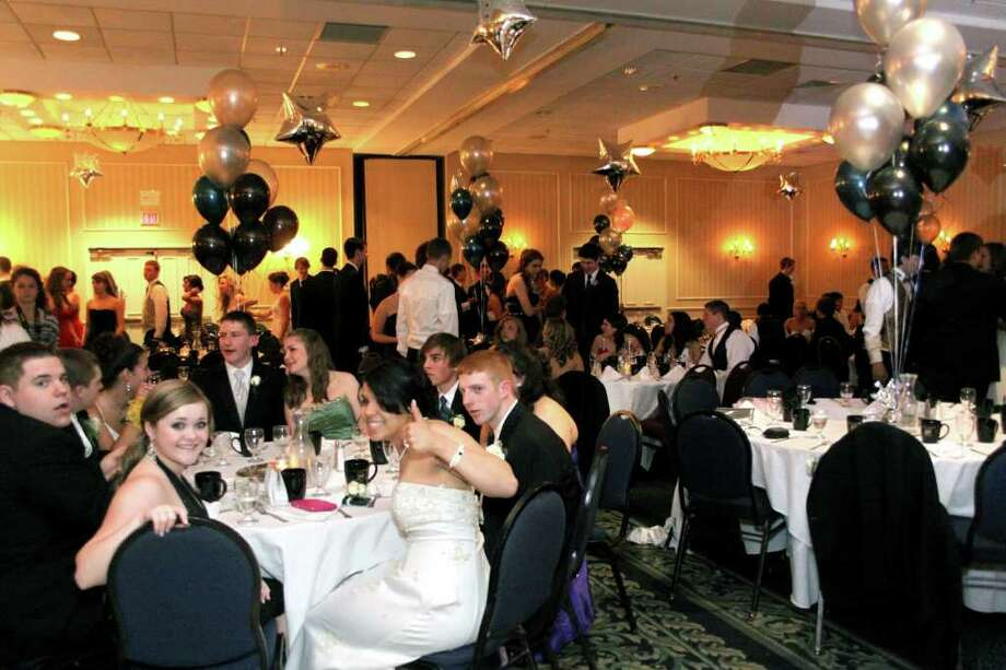 Newtown High School Senior Prom Party guests warm up for a festive evening. Photo taken 04/30/2011. Photo: Walter Kidd / The News-Times Freelance