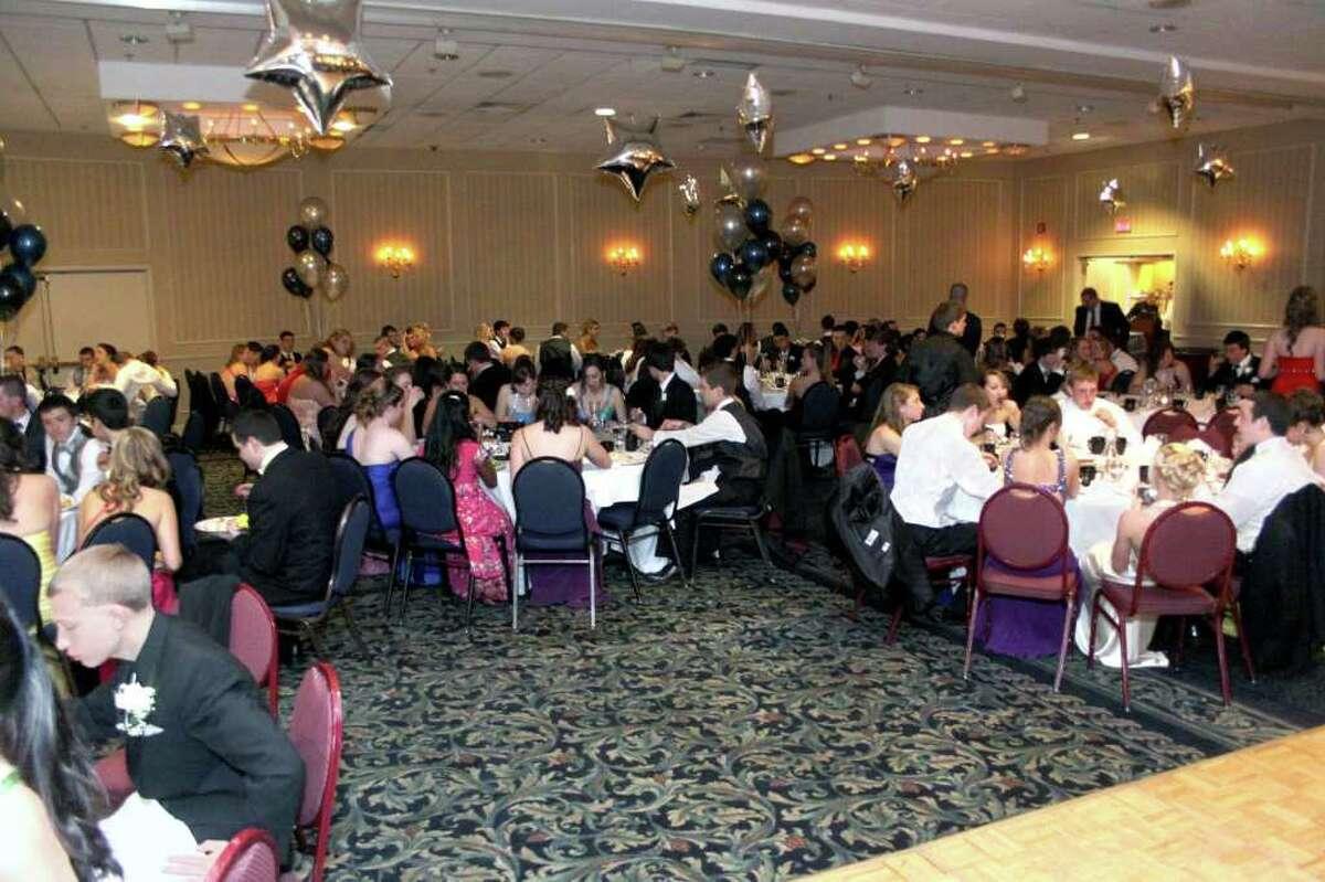 Newtown High School Prom goers sit down for dinner. Photo taken 04/30/2011