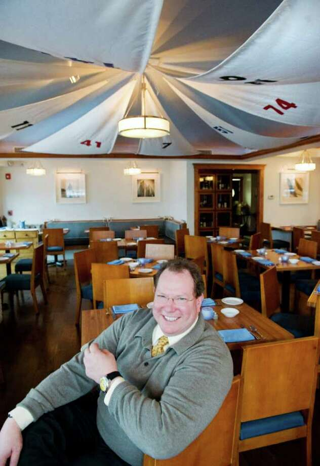 General Manager Terry McSpedon sits in the dining room at Sails American Grill in Rowayton, Conn. on Wednesday April 13, 2011. Photo: Kathleen O'Rourke / Stamford Advocate