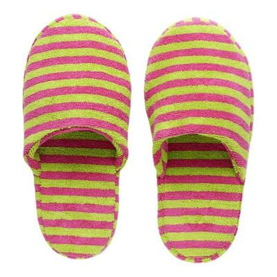 Marimekko Nimikko slippers, $42 at crateandbarrel.com Photo: Crate & Barrel
