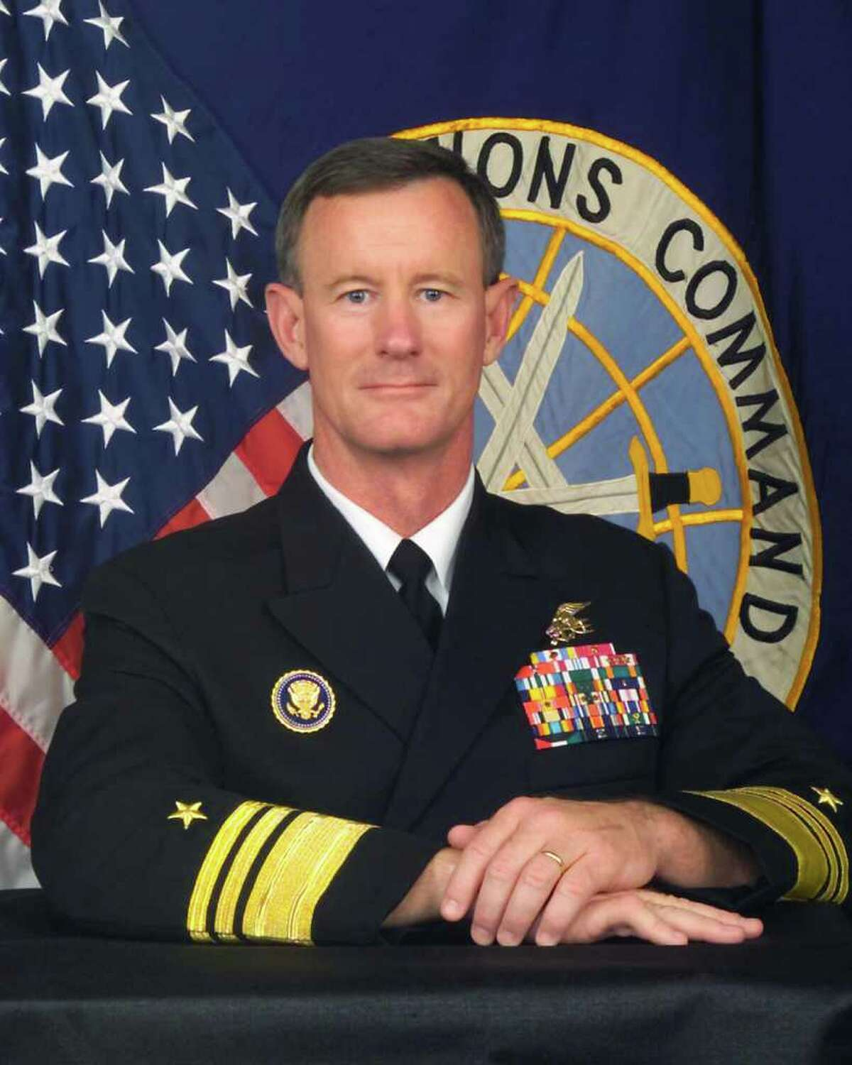 William H. McRaven is seen in an undated Navy hand-out photo.