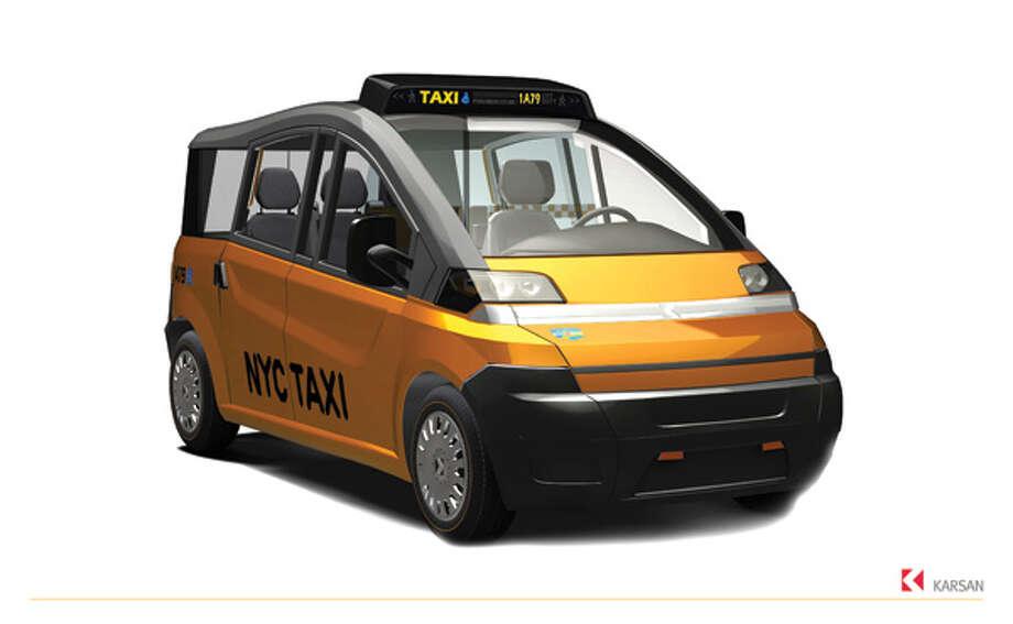 Karsan's proposal for New York City's 'Taxi of Tomorrow.' Photo: Hexagon Studio   Www.hexagonstudio.com.tr, Taxi And Limousine Commission