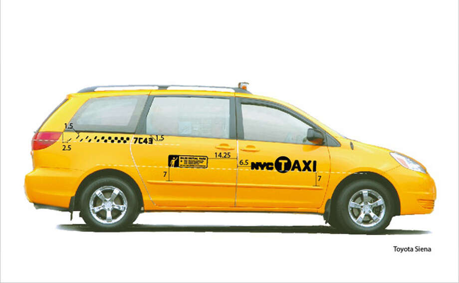 The Toyota Sienna is a current accessible New York taxi. Photo: New York Taxi And Limousine Commission