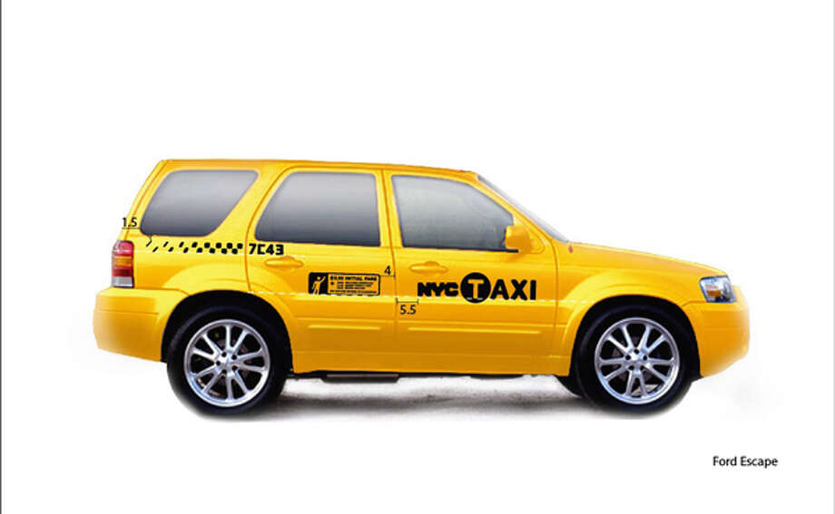 The Ford Escape Hybrid is second to the Crown Victoria among current New York cabs. Photo: New York Taxi And Limousine Commission
