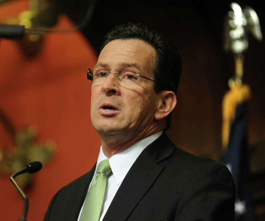 Gov. Dannel P. Malloy presents his budget address to a joint session of the General Assembly in Hartford in February. Photo: File Photo / Connecticut Post File Photo