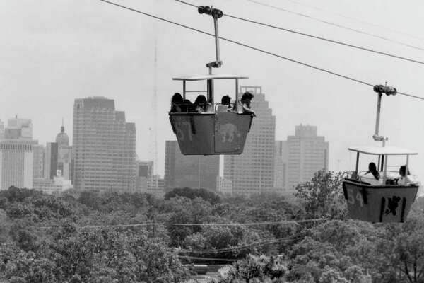 For years, Brackenridge Park's sky ride gave visitors a unique view of the San Antonio skyline. The ride's gondolas are expected to fetch as much as $1,200 at auction Friday.