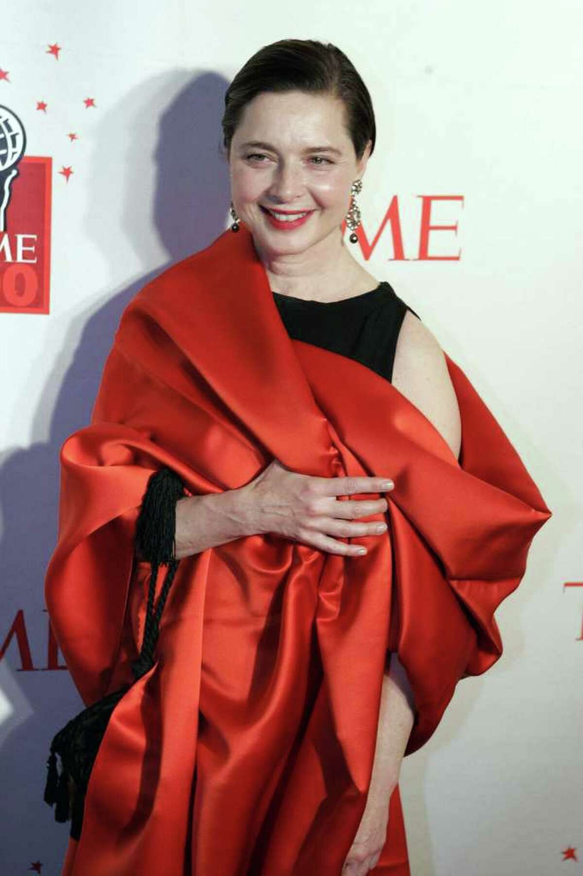 Actress Isabella Rossellini arrives for Time's celebration of the magazine's '100 Most Influential People' in New York May 8, 2006. REUTERS/Keith Bedford