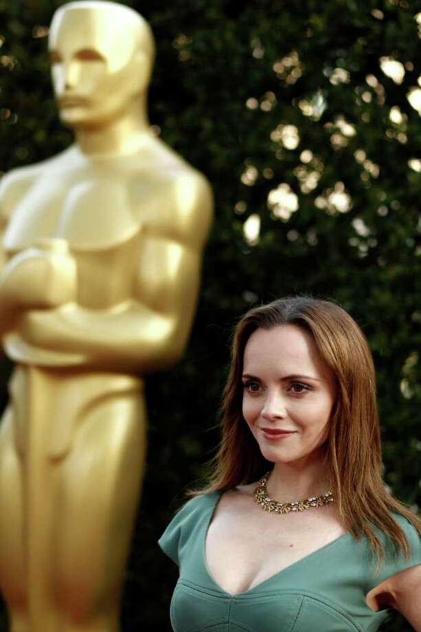 Actress Christina Ricci arrives at The Academy of Motion Picture Arts and Sciences Tribute honoring Sophia Loren in Beverly Hills, Calif., Wednesday, May 4, 2011.  Loren's life and career will be celebrated by friends and colleagues Wednesday. Photo: AP
