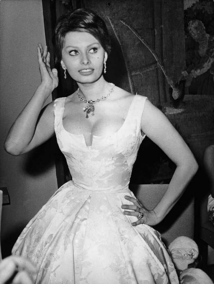 6th July 1959:  Italian actress Sophia Loren attends a ball in the Funkturm, during the 9th International Film Festival in Berlin. Photo: Keystone, Getty Images / Hulton Archive