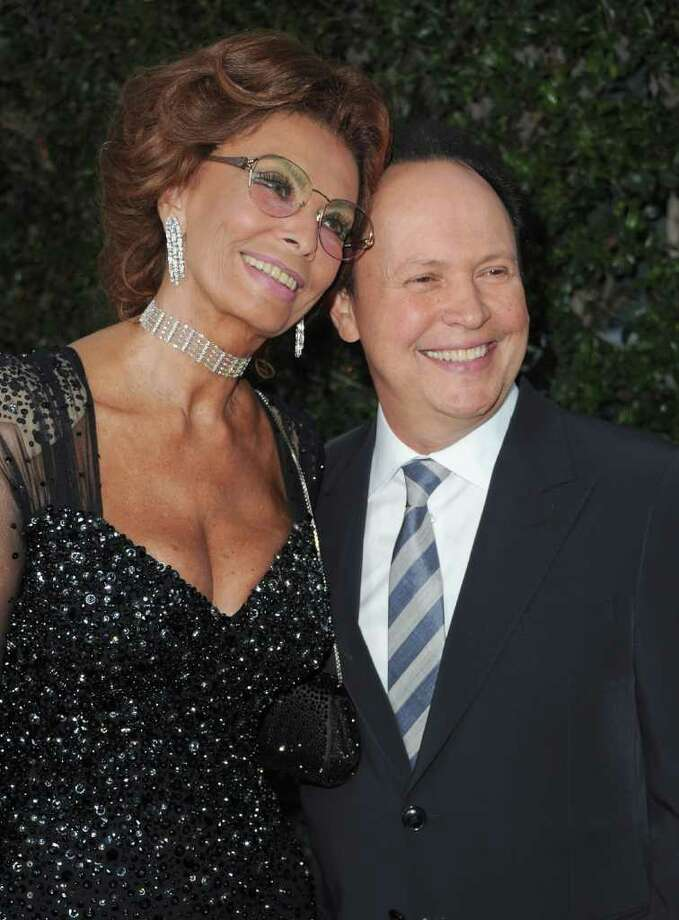 BEVERLY HILLS, CA - MAY 04:  Actress Sophia Loren and actor Billy Crystal arrive to The Academy of Motion Picture Arts and Sciences' tribute to Sophia Loren on May 4, 2011 in Beverly Hills, California.  (Photo by Alberto E. Rodriguez/Getty Images) *** Local Caption *** Sophia Loren;Billy Crystal; Photo: Getty Images