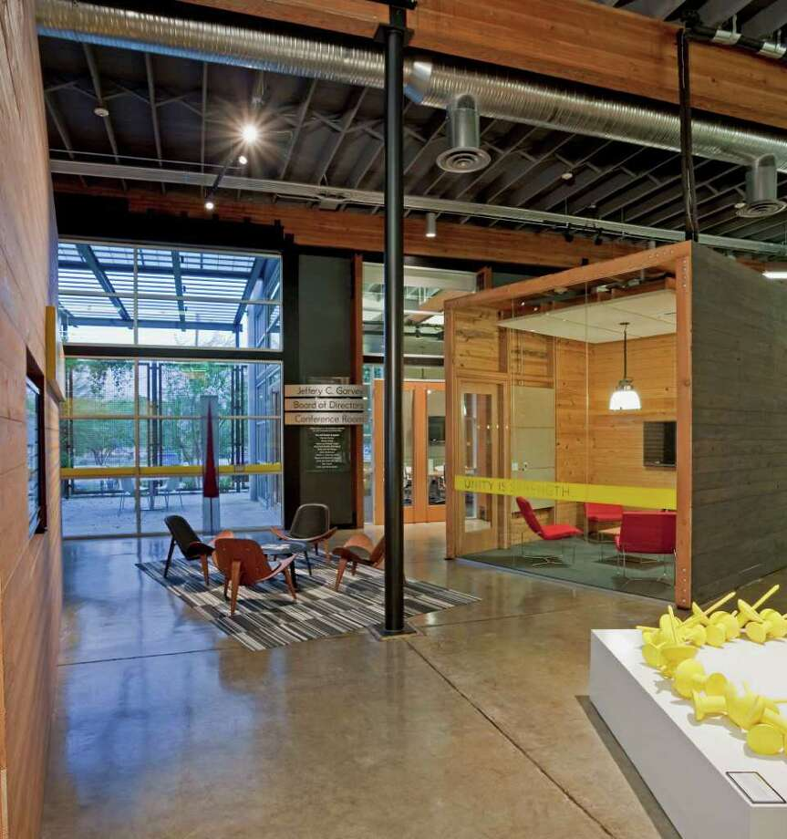 The interior of the LiveStrong Foundation in Austin. Photo: Courtesy Frank Ooms