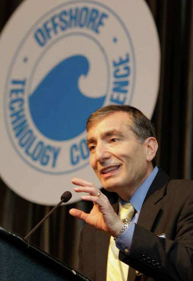 Rice University professor Dr. James Tour speaking at the Offshore Technology Conference at Reliant Center Thursday, May 5, 2011, in Houston. Photo: Melissa Phillip, Houston Chronicle / © 2010 Houston Chronicle