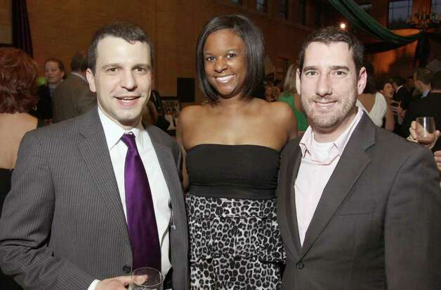 From left: Groff NetWorks LLC Principal Lauren Groff, Whitney M. Young Jr. Health Services Marketing/Foundation Interim Director of Development Takara Wiles and Executive Director at Food Pantries for the Capital District Benji Fox at Hopscotch and Slide, a fundraiser for Seton Health's Children's programs. Albany, NY - April 29, 2011 (Photo by Joe Putrock / Special to the Times Union) Photo: Joe Putrock / Joe Putrock