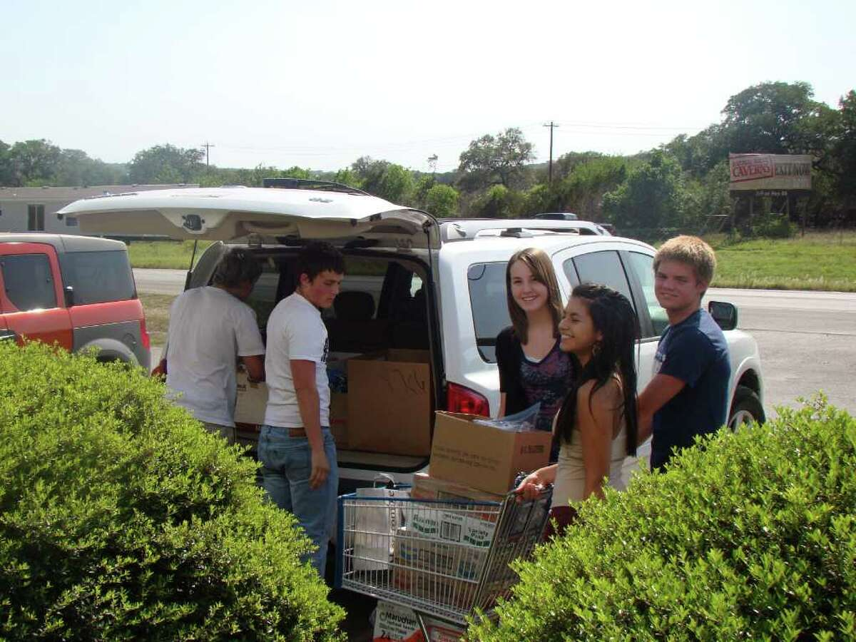 About 40 swim team members participated in a month-long food collection effort to benefit the Hope Center, said Shirley Jones, spokesman for the team.