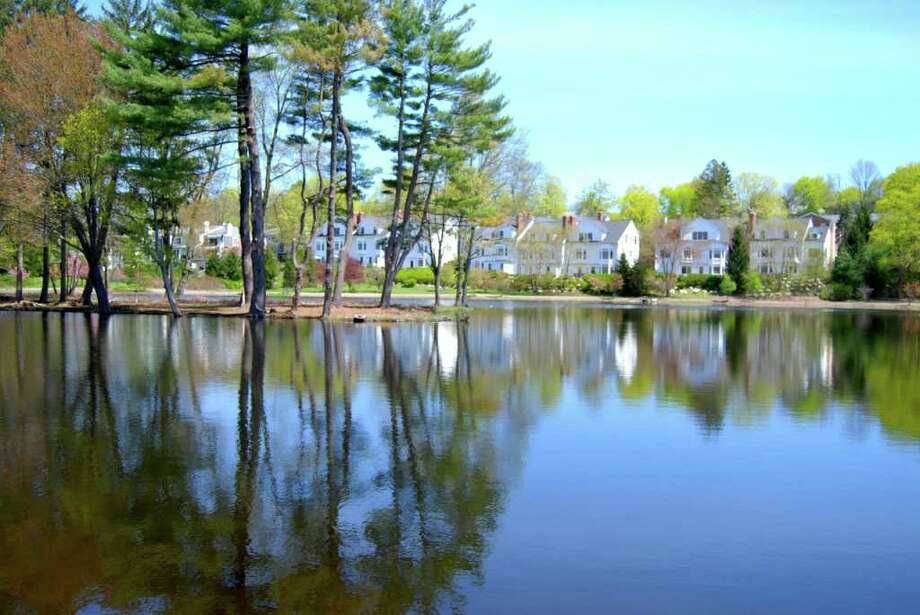 Springtime in New Canaan! Reflections on a beautiful sunny Sunday, May 1, at Mead Park. Photo: Jeanna Petersen Shepard / New Canaan News
