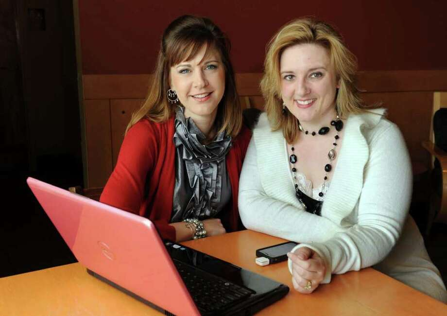Margo Anderson, 35, left, and Crystal Girgenti, 32, both of New Milford, founded a company called Launching Ladies. Photo taken Friday, May 6, 2011. Photo: Carol Kaliff / The News-Times