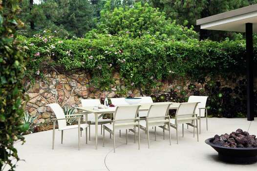 Bright Patio Furnishings Give Flowers Some Competition
