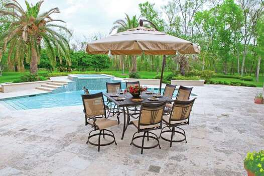 Balcony Height Swivel Patio Set: Bright Patio Furnishings Give Flowers Some Competition