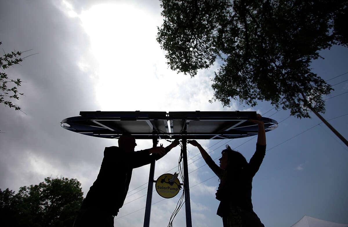 Solar Fest runs 9 a.m.-4 p.m. Saturday at Maverick Park, Broadway and 10th Street. EXPRESS-NEWS FILE PHOTO