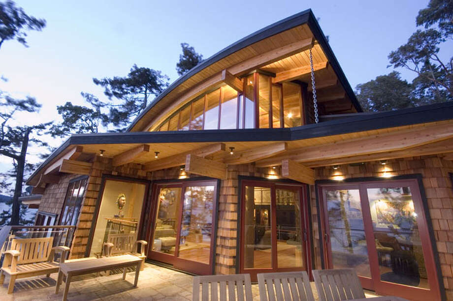 "The ""Natural Balance"" house, in Friday Harbor, on San Juan Island, was the first house in the San Juans to target top-level platinum certification through the U.S. Green Building Council's Leadership in Energy and Environmental Design Program. Photo: Northwest Property Imaging"