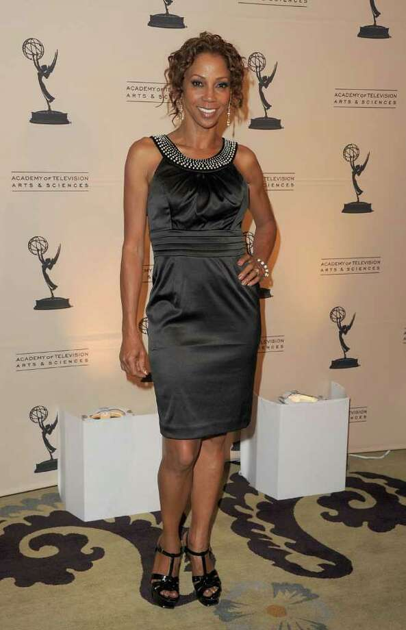 Actress Holly Robinson Peete arrives.  (Photo by Jason Merritt/Getty Images)  Photo: Getty Images