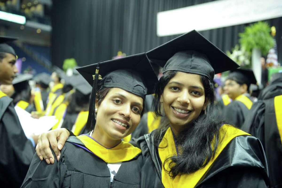 The University of Bridgeport hosts its 101st commencement ceremony Saturday, May 7, 2011 at the Arena at Harbor Yard.