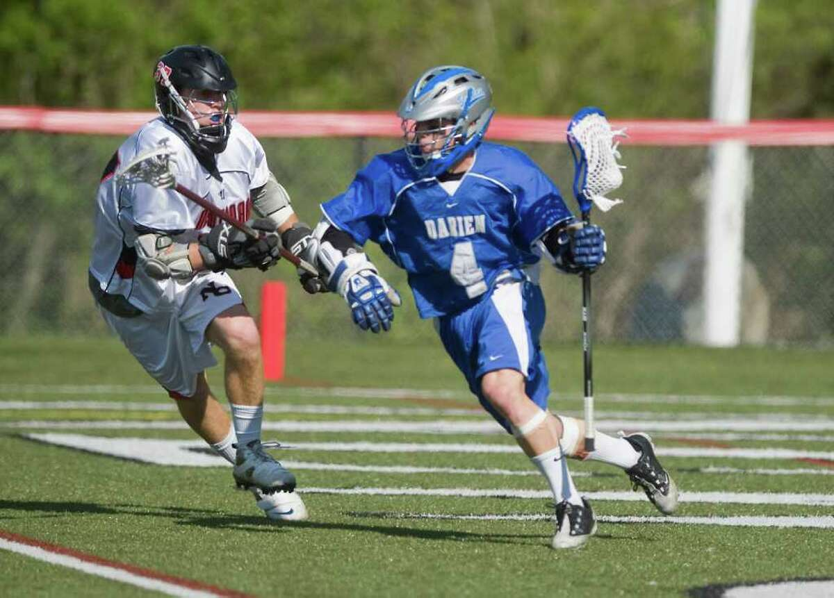 New Canaan High School takes on Darien High School in boys lacrosse in New Canaan, Conn. on Saturday May 7, 2011.