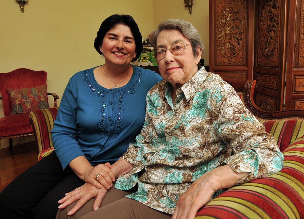 """Children's book author Diane Gonzales Bertrand and her mother, Consuelo C. Gonzales, whose advice, """"Don't be rude,"""" Gonzales has passed to her children. ROBIN JERSTAD / SPECIAL TO THE EXPRESS-NEWS"""