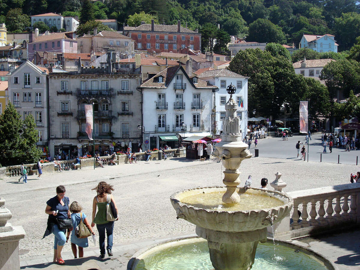 Perched on a hill and offering many palaces and gardens, the town of Sintra is popular with tourists. It's a half-day train ride away from Lisbon. SANDY RAOS /SPECIAL TO THE EXPRESS-NEWS