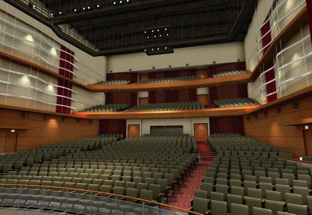 This artist's rendering shows the interior of the envisioned Greenwich High School auditorium and music instructional space. Photo: Contributed Photo, ST / Greenwich Time Contributed
