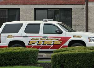 A Shaker Road Loudonville Fire Department SUV sits in front of its station on Albany Shaker Road in Colonie, N.Y., on Tuesday, April 19, 2011. (Lori Van Buren / Times Union)