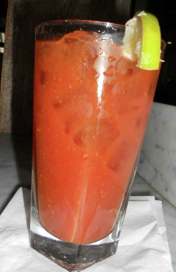 A 'Stirrings' Bloody Mary at the Gray Goose in Southport is thick and spicy. Photo: Contributed Photo/Patti Woods / Westport News contributed