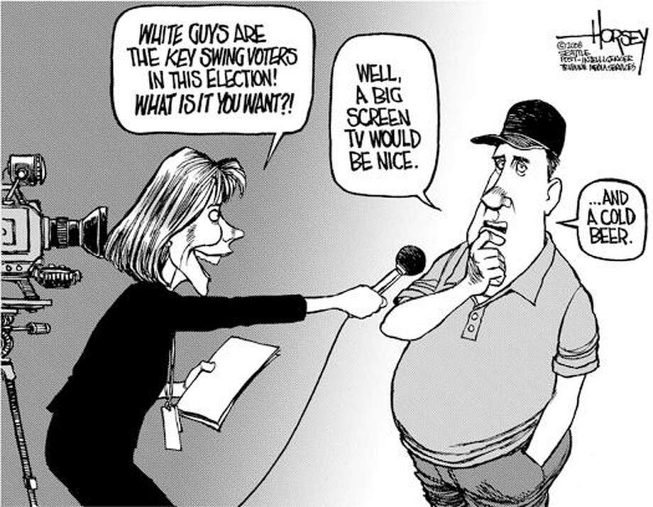 White guys speak out ... - Originally published on March 2, 2008 Photo: David Horsey, Seattlepi.com