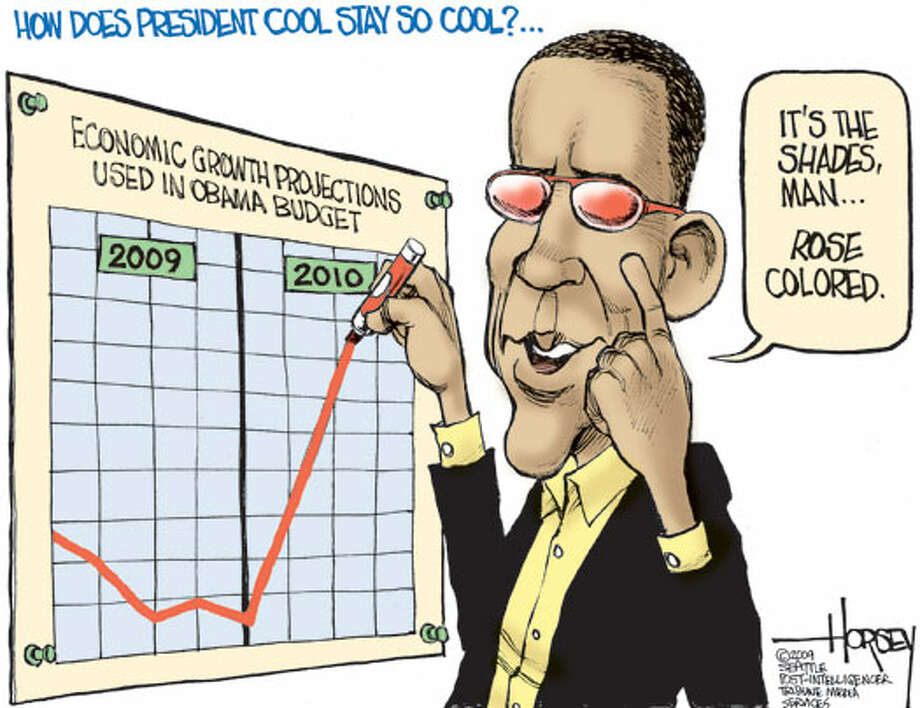 How does President Cool stay so cool? - Originally published on March 8, 2009 Photo: David Horsey, Seattlepi.com