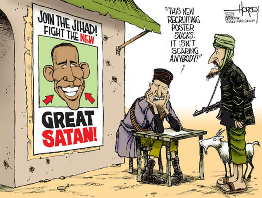 'Join the Jihad!' - Originally published on June 5, 2009 Photo: David Horsey, Seattlepi.com