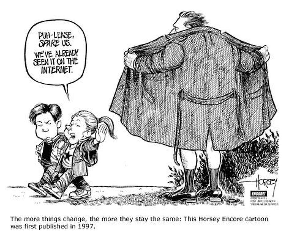 Today's Kids Have Seen It All - Originally published on August 2, 2002 Photo: David Horsey, Seattlepi.com