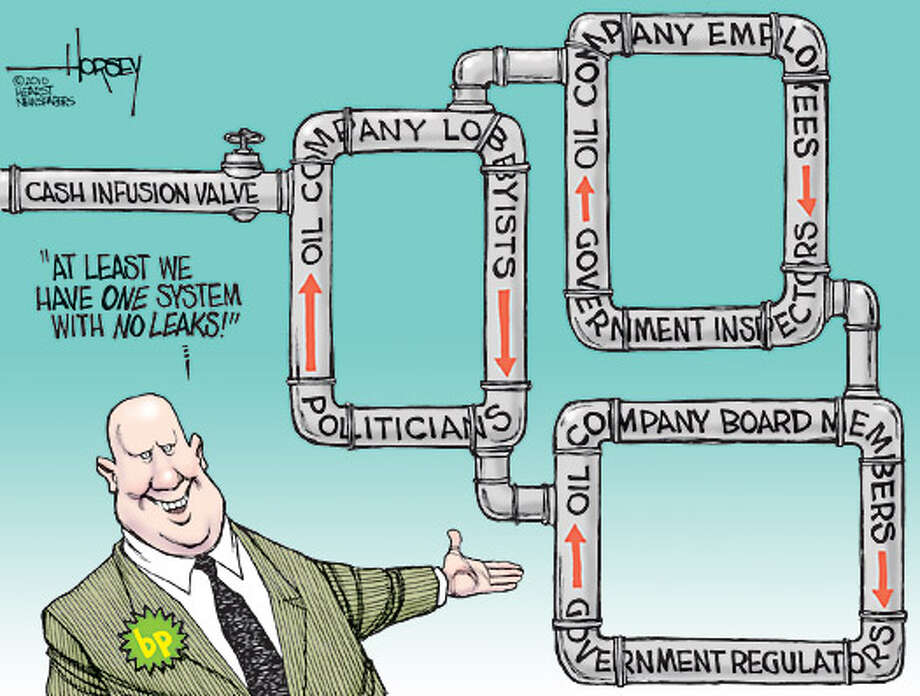 Oil companies' pipeline to power - Originally published on June 2, 2010 Photo: David Horsey, Seattlepi.com