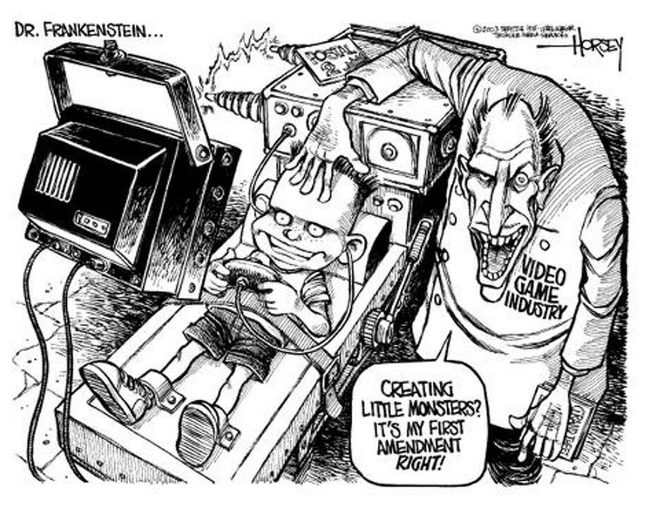 Today's Dr. Frankenstein... - Originally published on August 1, 2003 Photo: David Horsey, Seattlepi.com
