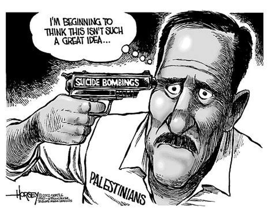 What's the point of suicide bombing? - Originally published on December 1, 2002 Photo: David Horsey, Seattlepi.com