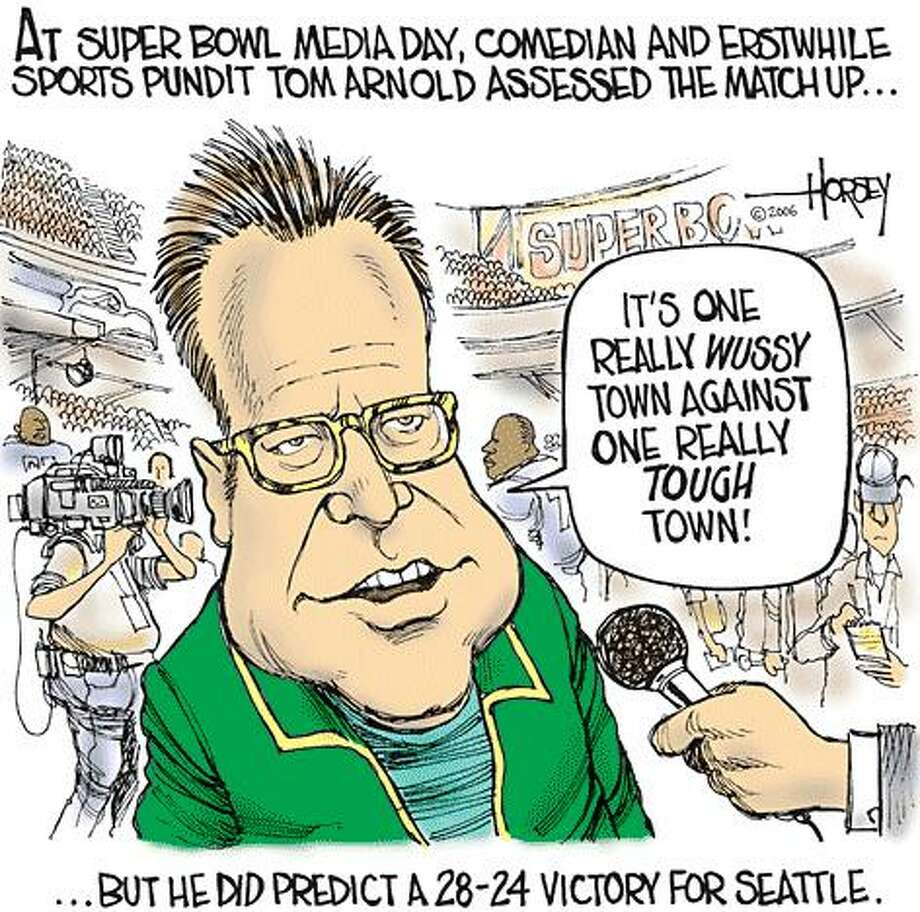 Tuesday at the Super Bowl - Originally published on February 1, 2006 Photo: David Horsey, Seattlepi.com