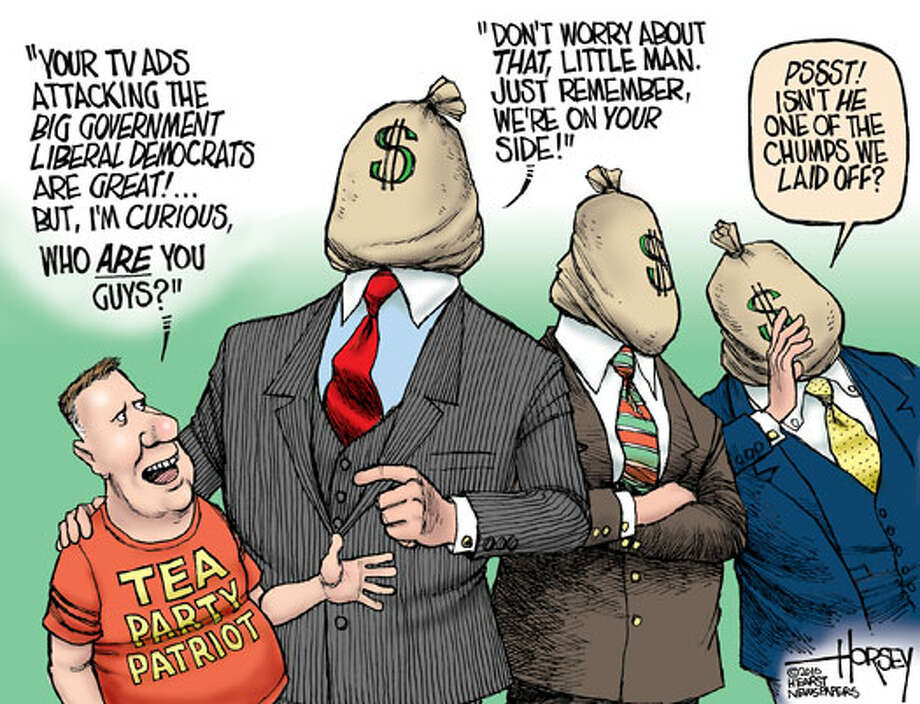 Behind the attack ads .... - Originally published on October 5, 2010 Photo: David Horsey, Seattlepi.com