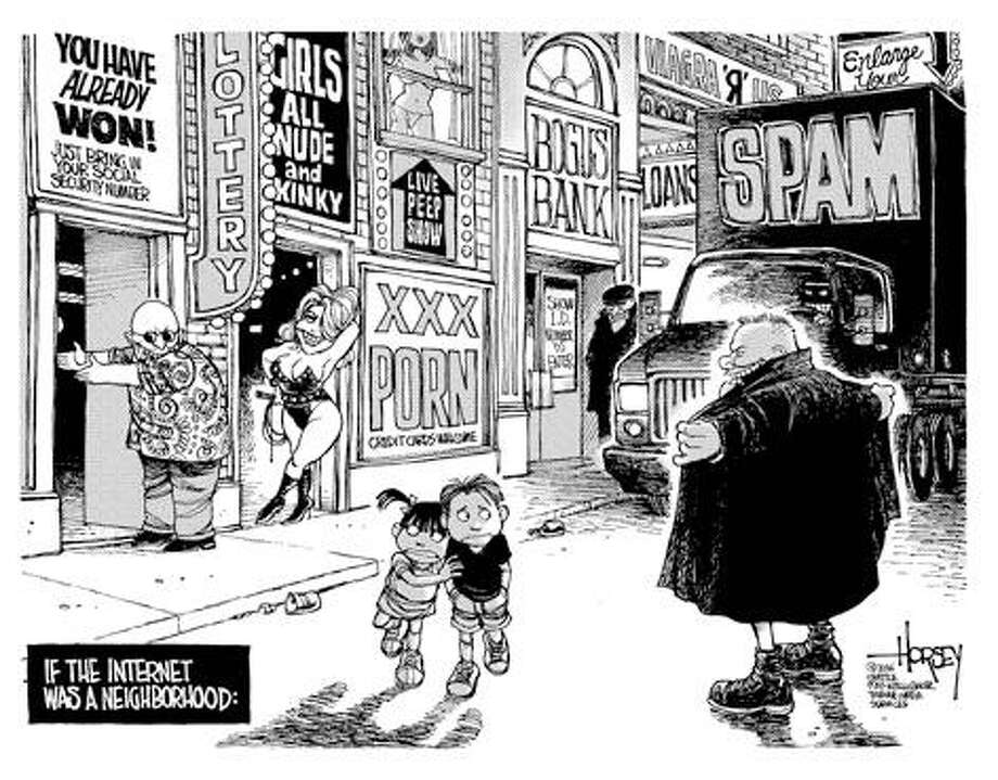 If the Internet was a neighborhood... - Originally published on May 2, 2006 Photo: David Horsey, Seattlepi.com