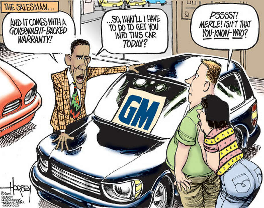 The Salesman - Originally published on April 2, 2009 Photo: David Horsey, Seattlepi.com