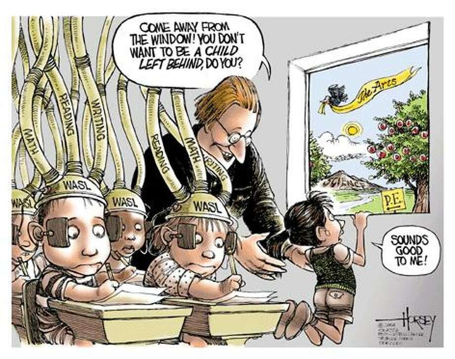 No child left behind... - Originally published on March 5, 2004 Photo: David Horsey, Seattlepi.com