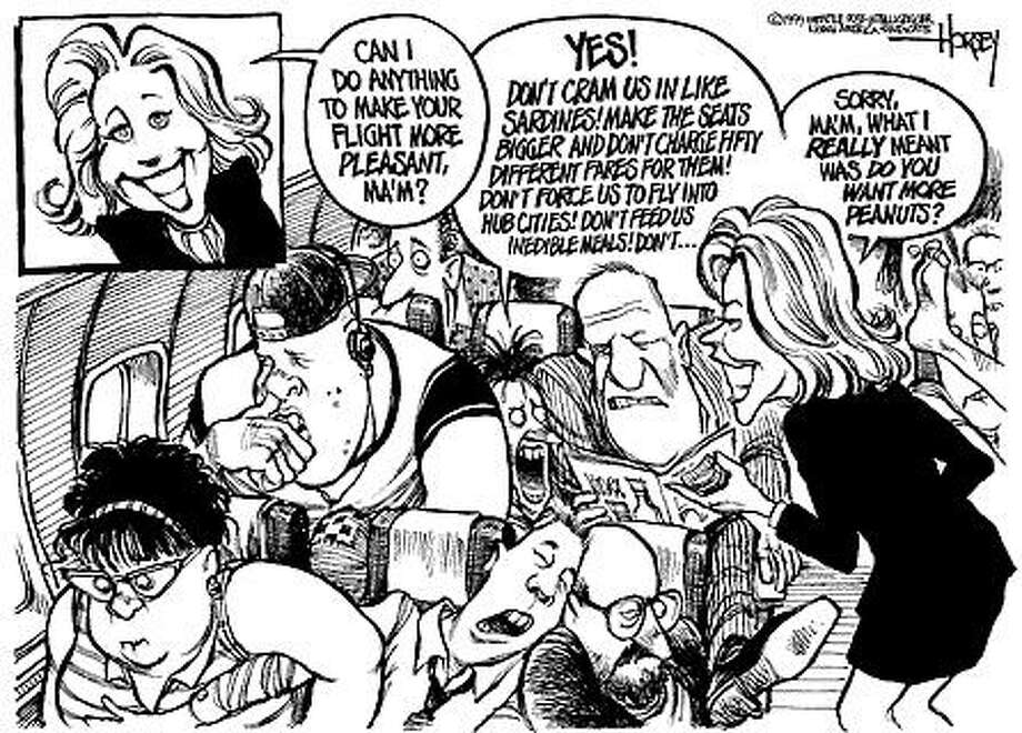 Whatever Happened to the Friendly Skies? - Originally published on May 2, 1999 Photo: David Horsey, Seattlepi.com